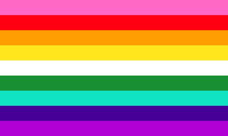 Modern 9 stripe LGBT pride rainbow flag - wich was revealed on 2018. 向量圖像