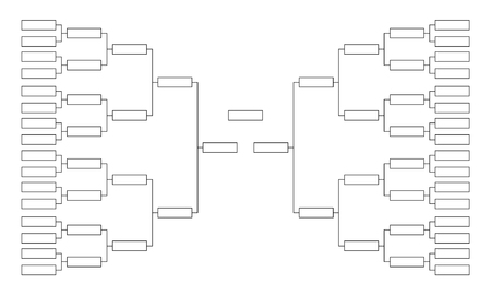 Tournament bracket. Empty template for competition charts
