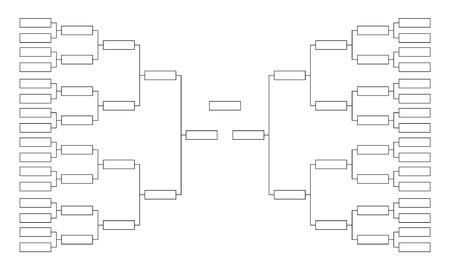 Turnierhalterung. Leere Vorlage für Wettbewerbsdiagramme