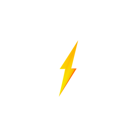 Flash and thunder bolt icon. High voltage and electricity symbol Standard-Bild - 120702053