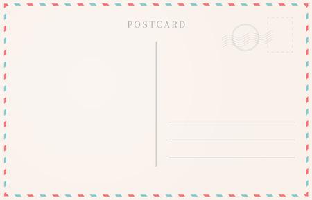 Blank travel card illustration. Postcard border template