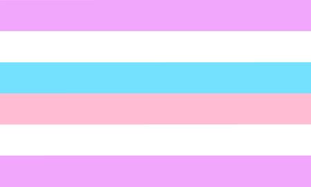 Bigender pride flag - one of a communities of LGBT sexual minority.