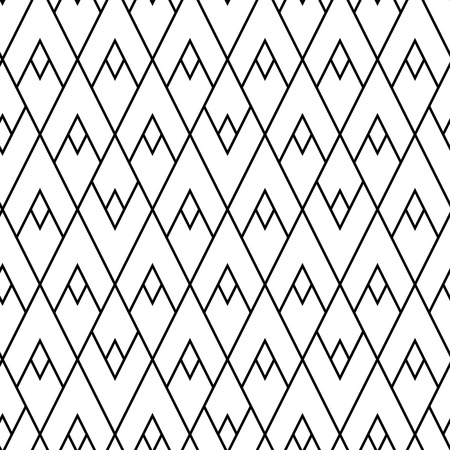 Abstract lozenges seamless pattern. Geometric repeat with rhombs