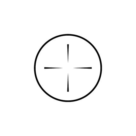 Sniper scope crosshairs thin icon set. Isolated rifle gun target  イラスト・ベクター素材