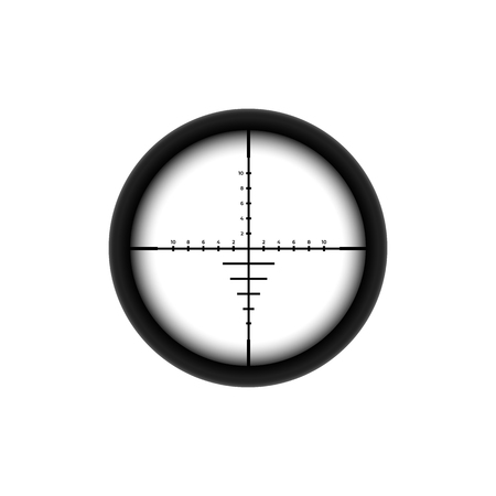 Automatic sniper collimator icon with blurred sight crosshairs