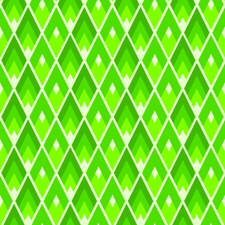 Lozenges seamless pattern. Modern UFO green colored geometric tile texture Imagens - 124971743