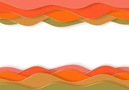 Abstract multilayered cartoon paper background with 3d effect