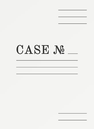 Binder for documents archive. Paper case folder cover Ilustração
