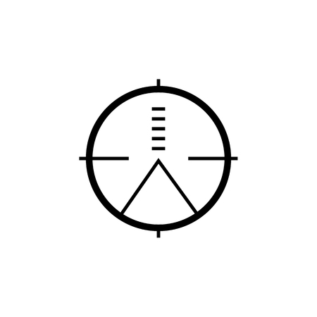 Military sniper rifle scope collimator sight icon