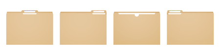 Manila folder for reports and archive cases