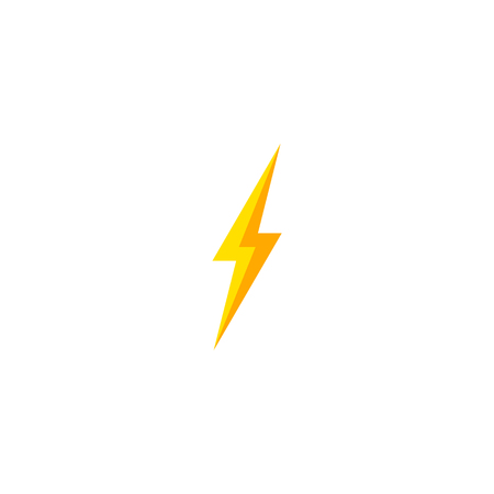Flash and thunder bolt icon. High voltage and electricity symbol Standard-Bild - 120702139