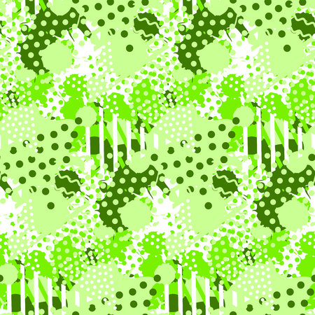 Abstract tile pattern with fluid forms in modern lime color. 일러스트
