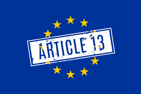 The european copyright directive including article 13 has been approved the european parliament. Illustration