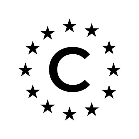 Article 13 concept illustration with a copyright symbol