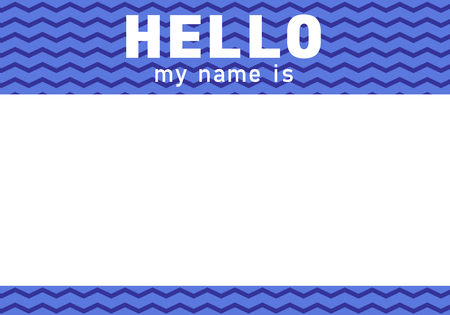 Name tag for meetups. Ice breaker sticker for speed dating