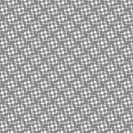 Op art background. Seamless pattern with ornament of wavy lines