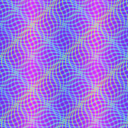 Wavy pattern with optical illusion of movement. Op art background Ilustracja