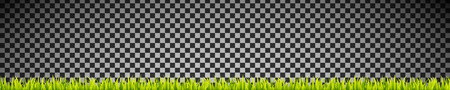 Fresh and green grass banner lines. Herbal growth overlay. Sport field coating Illustration