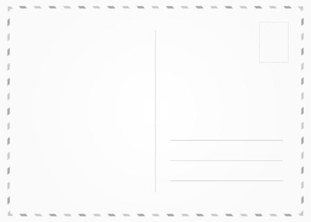 Black and white postcard back. Travel card border frame Illustration