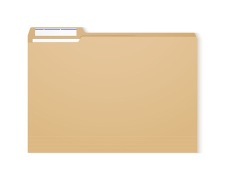 Manila folder. Paper case archive for document and reports Ilustração