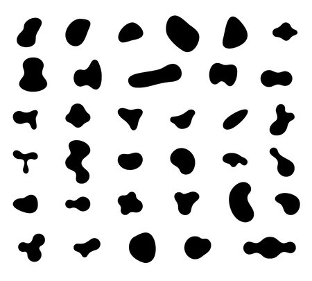 Set of abstract liquid forms and fluid shapes.