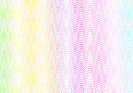 Abstract wavy lines background. Rainbow passport page holographic watermark.