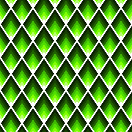 Rectangles or lozenges seamless pattern in trendy neon lime color