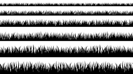 Grass silhouette. Turf coating banners for edging and overlays