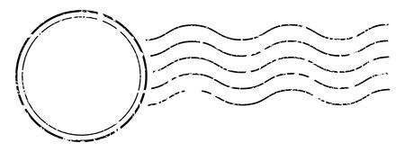 Nadruk pieczęci kasującej znaczki pocztowe. Ilustracje wektorowe
