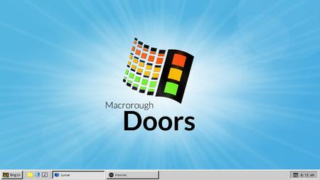 Alte Benutzeroberfläche und Desktop mit Vintage-Hintergrundbild Vektorgrafik