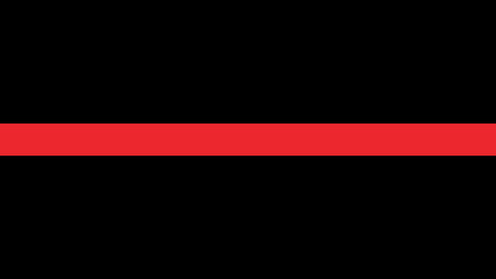 Thin red line flag - a sign to honor and respect firefighters