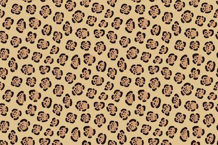 Jaguar print. Seamless big cat cowhide texture Illustration