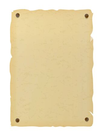 Ancienne affiche en papier pour les messages recherchés et manquants.