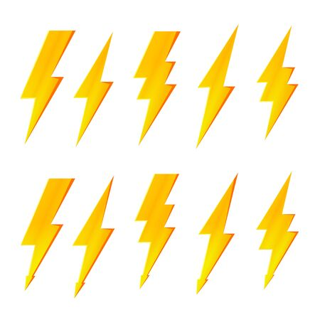 Lightning bolt, thunder flash and electric voltage icon