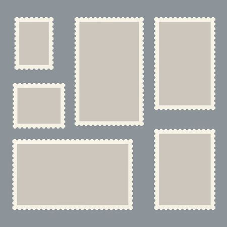Postage marks and stamps for postcards and postal travel card marking. Archivio Fotografico - 128027229