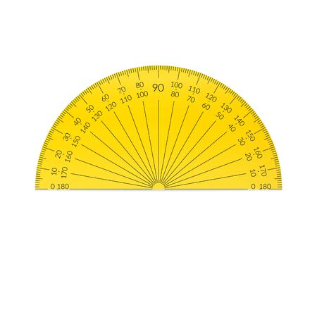 Plastic circular protractor with a 180 degree scale Ilustrace