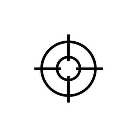 Simple collimator sight sniper scope crosshairs icon