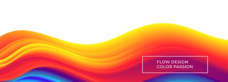 Colorful wavy flows of a fluid lines and liquid shapes with a smooth splash of color. Eps10