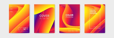 Cover design with abstract background color pattern and waves of color flow with motion of curved lines. EPS 10