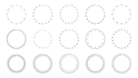 Protractor dial faces with editable stroke width
