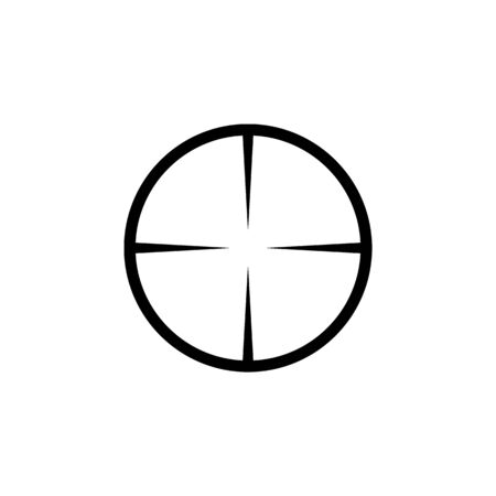 Simple sniper rifle aim target. AR crosshairs. Gun scope icon