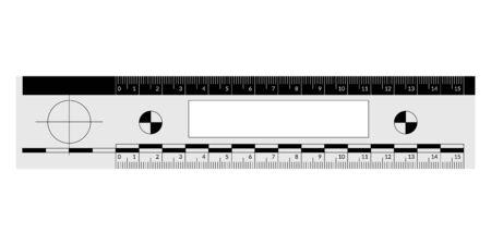 Forensic ruler for the measuring of a crime scene evidence