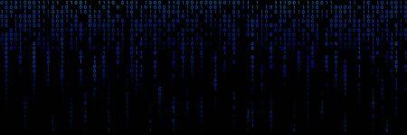 Binary code algorithm background. Computer digital language illustration Illusztráció