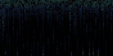 Blue cyber background of binary code digits