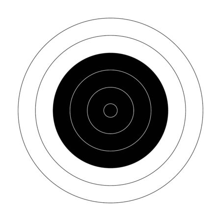 Circular bullseye target for the shooting practice on a rifle range Vettoriali