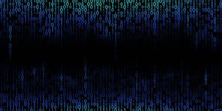 Blue cyber background of binary code digits