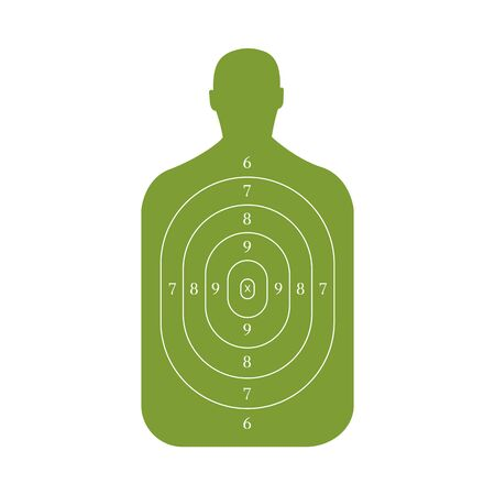 Man-shaped shooting target for practice on a rifle range Banque d'images - 131896922