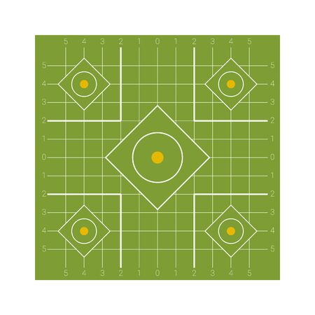 Square shaped shooting target with a points zones for firing practice and competitions Banque d'images - 131896925