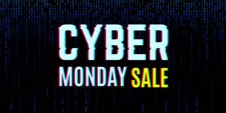 Cyber monday clearance sale concept with a binary background Banque d'images - 132642994