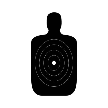 Human body shaped target for a shooting practice Banque d'images - 132642996